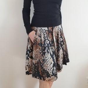 Worthington Snake Reptile Print Flair Skirt